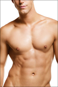 slim male torso photo